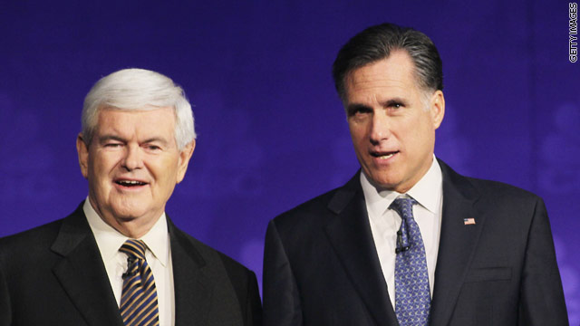 What does it say about Romney that he won't debate Gingrich one-on-one?