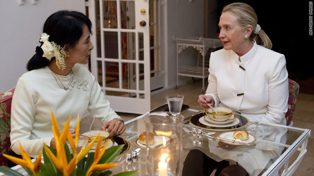 Dinner with Suu Kyi