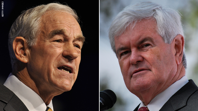 CNN Poll: Majority in GOP say Gingrich and Paul should end bids