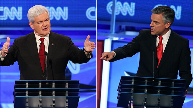 Huntsman and Gingrich agree to debate