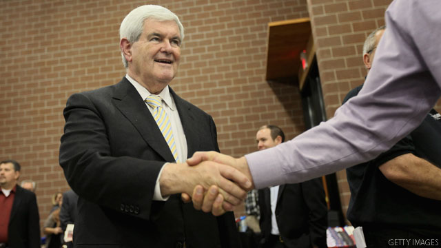 Gingrich with double digit lead in new national poll