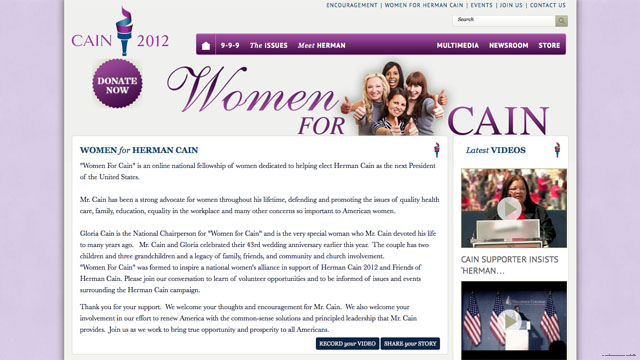 Women for Cain&#039; launched by campaign