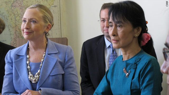 Clinton's historic visit to Myanmar