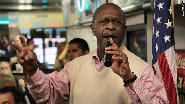 Cain sees traces of own campaign on debate stage