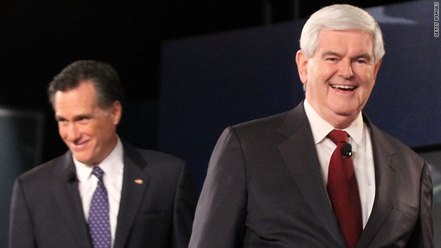 Gingrich up in Iowa; Romneys lead in NH narrows