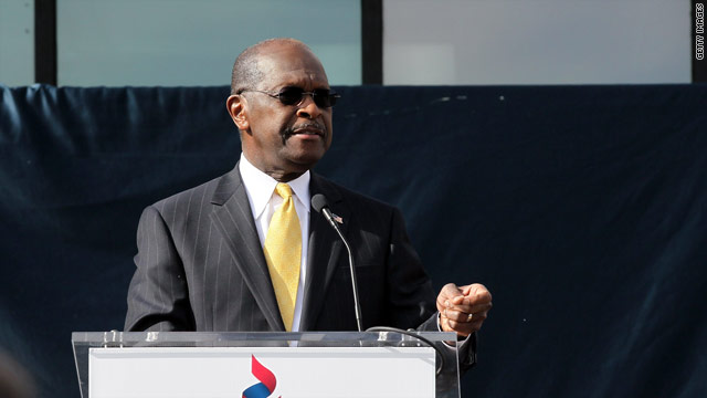 Cain names endorsement date, handicaps race