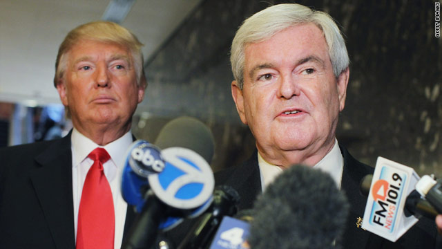 Gingrich and Trump team up