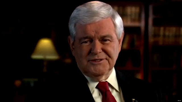 Gingrich goes up with first spot of presidential campaign
