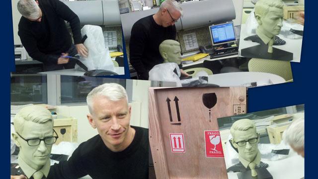 Anderson Cooper's model arrives