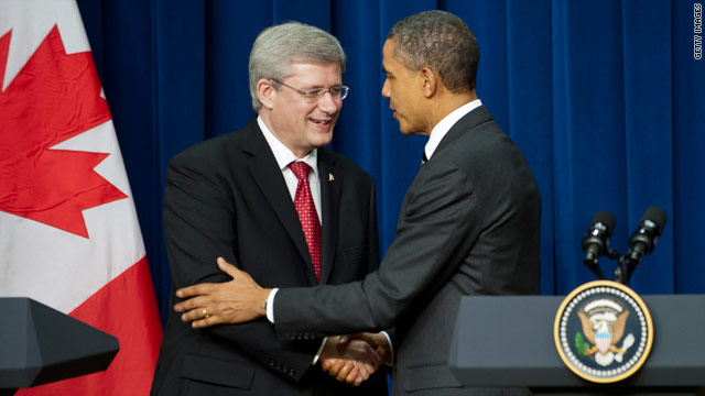 Obama, Harper agree to speed cross-border trade