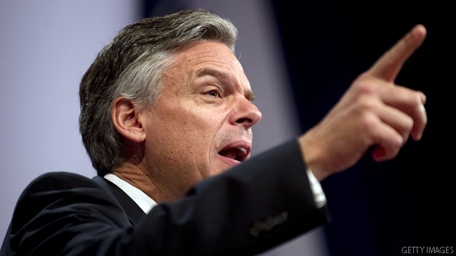 Huntsman lashes out at GOP frontrunners