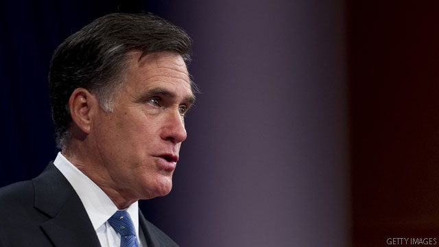 Mitt Romney thanks major financial backers