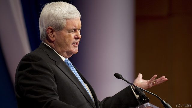 In wake of Romney attacks, Gingrich vows to 'stay positive'