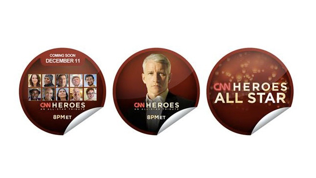 Check-In on GetGlue for limited-edition CNN Heroes: An All-Star Tribute Stickers