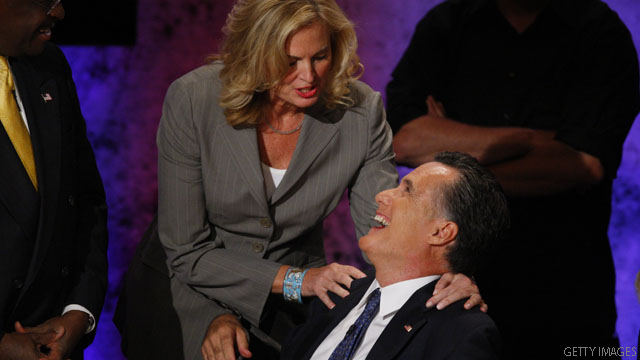 Mrs. Romney chided husband on bet