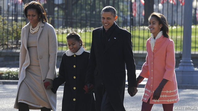 Photo: First family heads to church