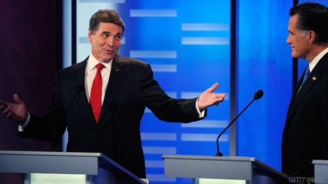 Perry keeps up bet criticism of Romney