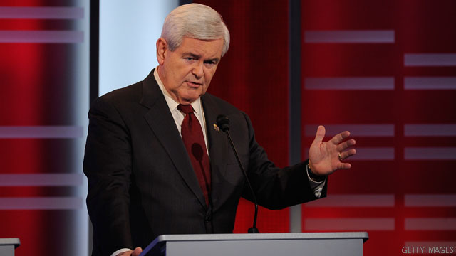Gingrich challenges Romney to a bet