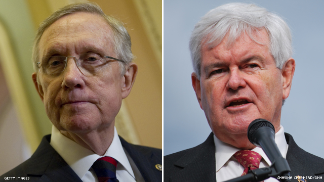 Reid labels Gingrich 'presumptive' nominee