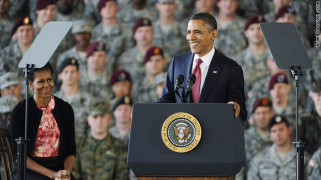 &#039;Welcome home,&#039; Obama tells troops from Iraq