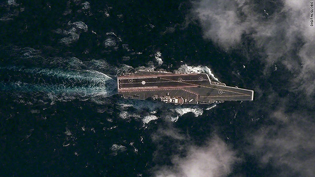 NEW IMAGE: Chinese aircraft carrier at sea