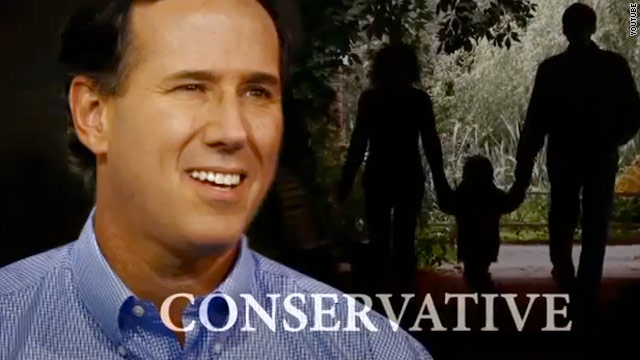 Santorum goes up with first paid ad