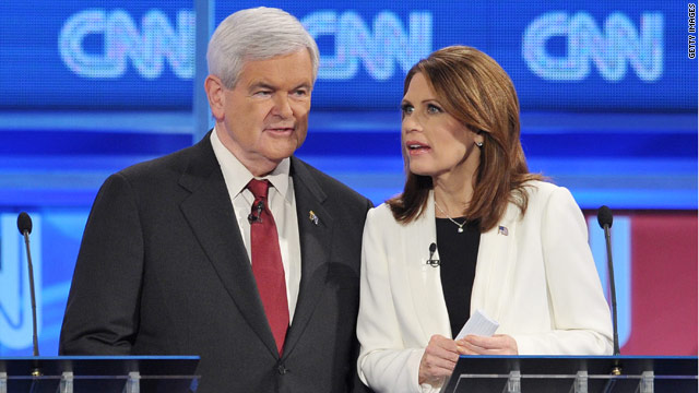 Bachmann camp: Gingrich morphs positions based on 'who's paying'
