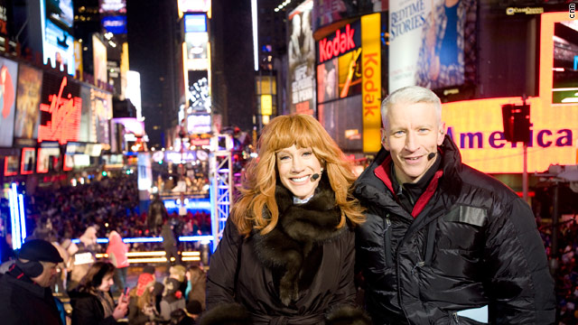Anderson Cooper and Kathy Griffin Co-Host CNN's New Years Eve Celebration