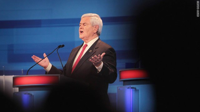 Checking the transcript on Gingrich's debate pushback