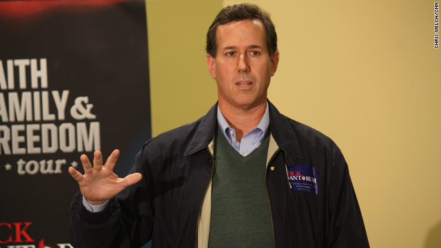 Santorum explains opposition to women in combat