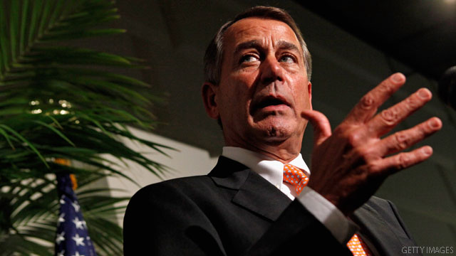 Source: Boehner offers to include higher tax rates on wealthy to avoid fiscal cliff