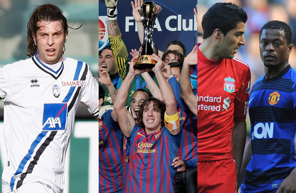 Italian footballer Cristiano Doni, European champions Barcelona and Liverpool's Luis Suarez have all hit the headlines.