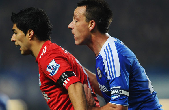 Luis Suarez was banned by the FA for eight matches after racially abusing Manchester United's Patrice Evra.