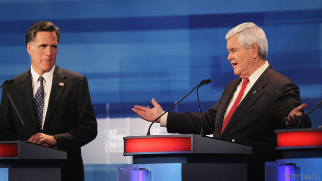 Gingrich and Romney remain deadlocked in national polls
