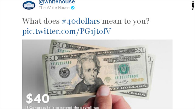 White House scores with its #40dollars campaign