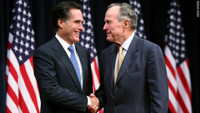 Bush 41 carefully backs Romney