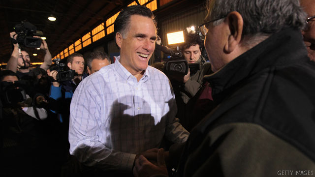 Romney&#039;s sugar fix for 7 stop day