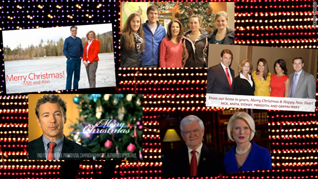 Candidates join families for Christmas greetings