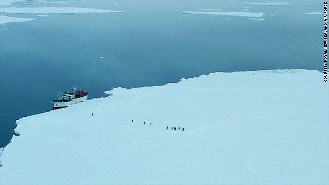 Ship spends 10th day stuck in frozen waters off Antarctica