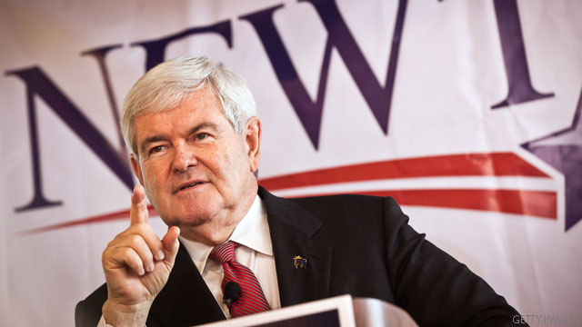 Gingrich holds onto debt as fundraising spikes