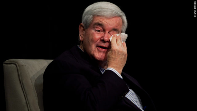 Gingrich tears up remembering his mother