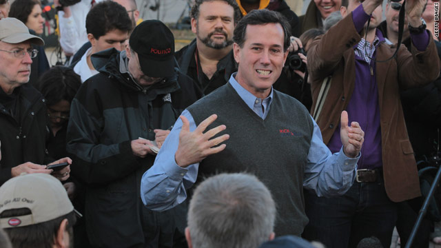 Late-surging Santorum looks to rally voters ahead of Iowa caucuses