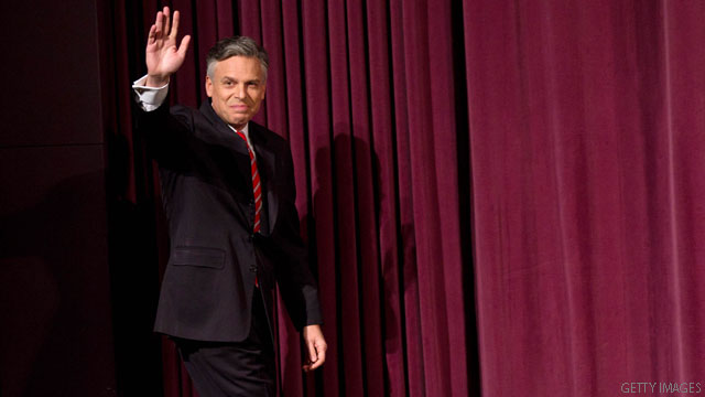 Huntsman offers up own money for bid