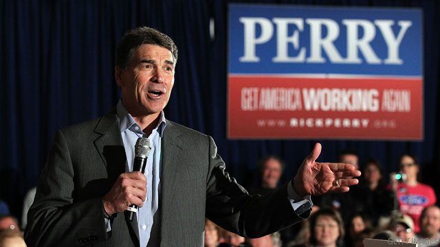 Perry makes play for Christian voters in South Carolina