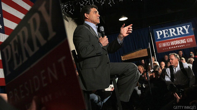 Leading Perry backers head to Iowa for final push