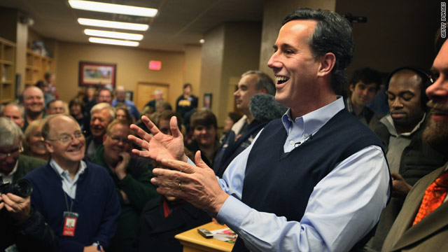 Santorum will be center stage at Wednesday's CNN debate