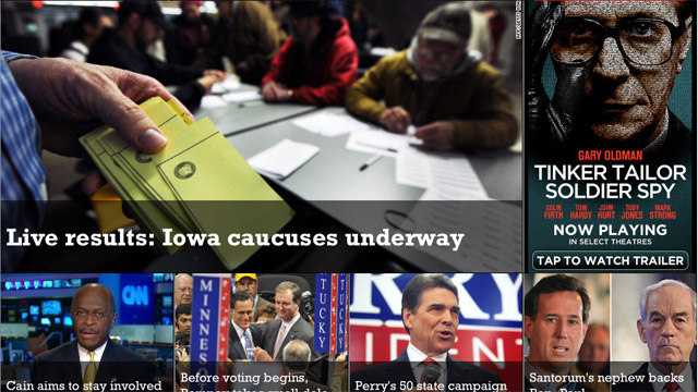 Follow the Iowa caucuses on your phone or tablet