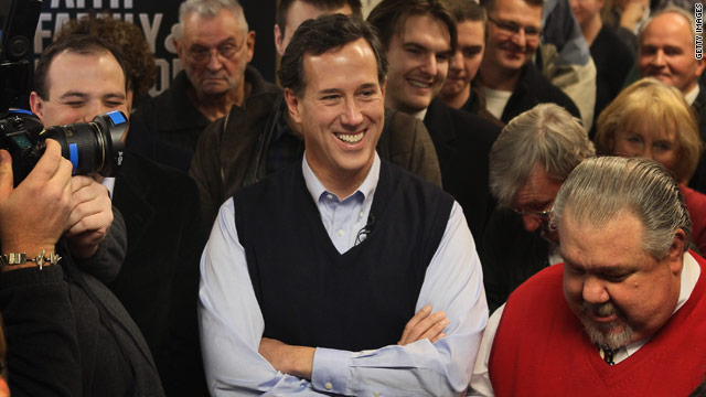 Santorum benefits from evangelical surge, but born-again Iowans splinter
