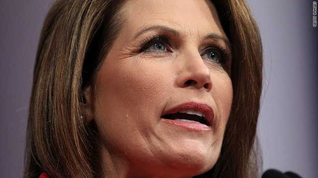 Former Romney rival Bachmann attends campaign fundraiser