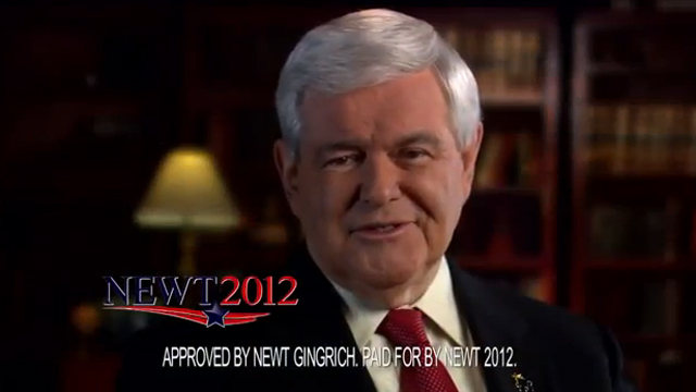 New Gingrich ad employs old tactics